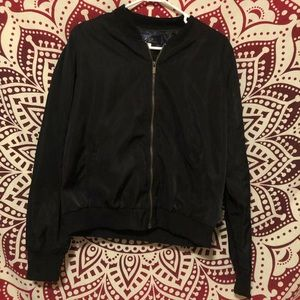 Francesca's black Bomber Jacket
